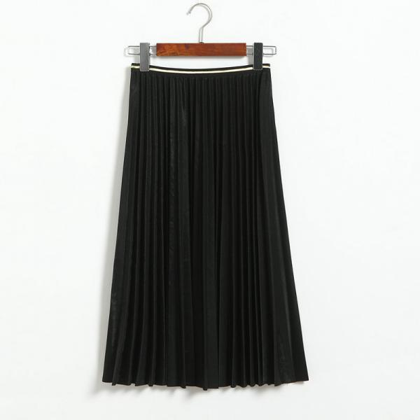 Fshion Women Pleated Skirt - Black