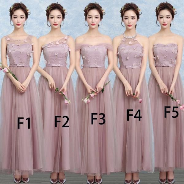 New Grey Color Gauze Long Bridesmaid Wedding Dress