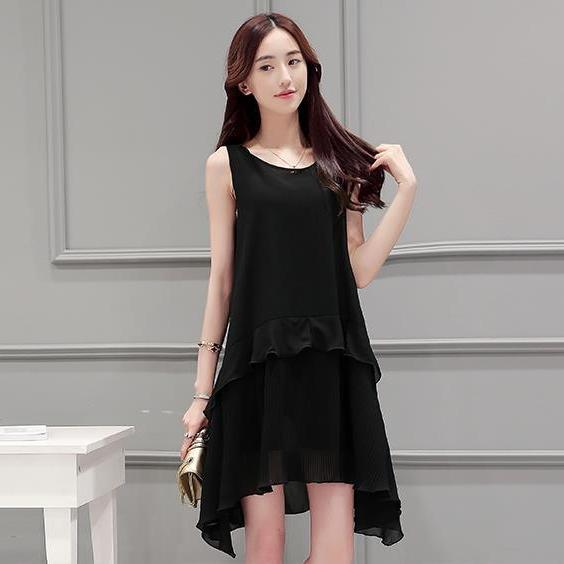 New spring and summer big size chiffon sleeves dress