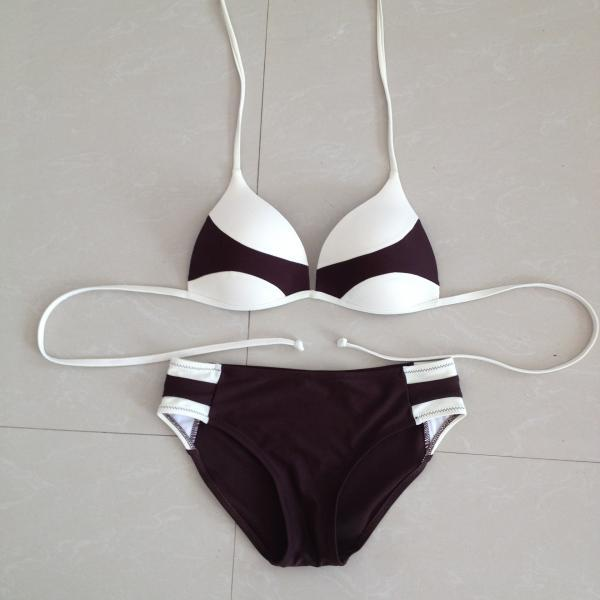Bikini Swimsuit Sexy Bikini Outside Swimming - Coffee