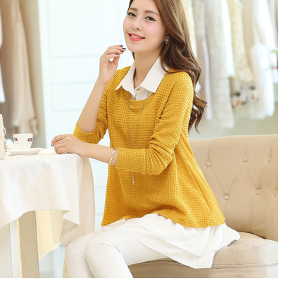 New hollow long sleeved sweater suit women loose shirt