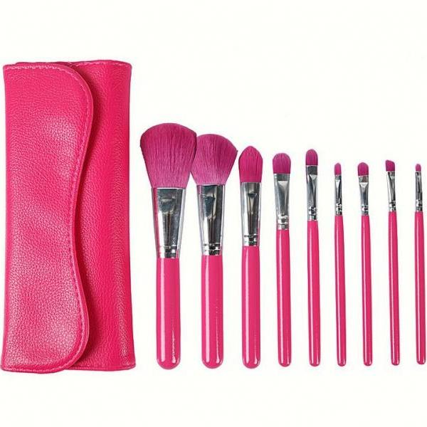 7pcs Makeup Brushes Set Eyebrow Foundation Shadows Make Up Tools Kits - Red
